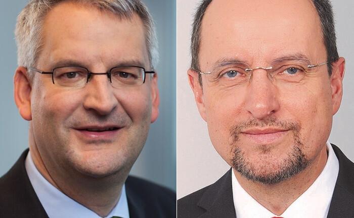 Sven Matthiesen (l.) übernimmt die Aufgaben im Vorstand der Frankfurter Sparkasse von Stephan Bruhn.