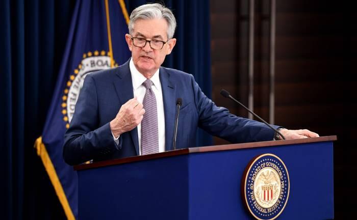Jerome Powell, Präsident der Federal Reserve: Niedrigere Leitzinsen sollen die wirtschaftlichen Folgen des Corona-Virus abfangen.