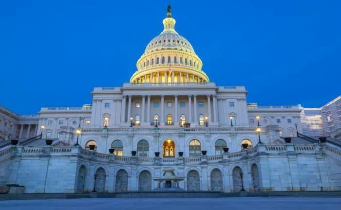 Der US-Kongress in Washington D.C.: Stockende Verhandlungen über gigantische Hilfspakete für US-Unternehmen und private Haushalte.