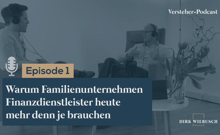 Dirk Wiebusch (re.) im Gespräch mit Daniel Seuling: Vertont wird die erste Folge des neuen Versteher-Podcasts.|© Institut für Unternehmerfamilien