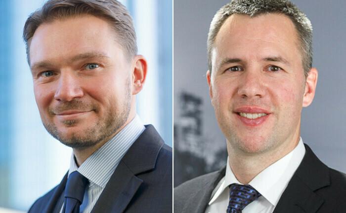 Peter Dombeck (l.) und Marc-André Köhler haben Novovest gegründet: Sie beraten nun ein berufsständisches Versorgungswerk.