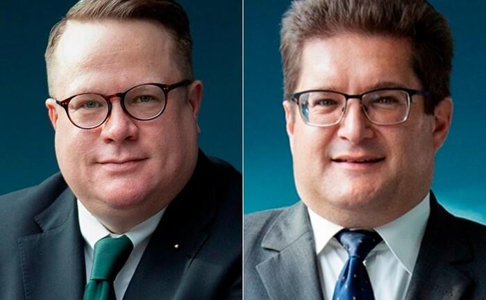 Stefan R. Haake (l.) und Ferenc von Kacsóh sind zwei von vier Gründern des Multi Family Office Pariter Fortis. |© Lisa Miletic Photography