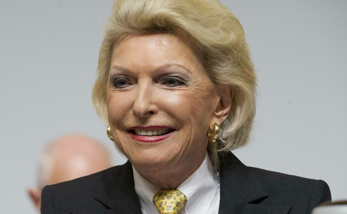 Maria-Elisabeth Schaeffler-Thumann auf der Hauptversammlung der Continental: In der Krise verlor das Aktienvermögen der Matriarchin rund 6 Milliarden Euro Buchwert.