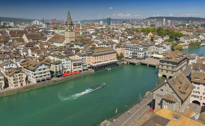 Das historische Stadtzentrum von Zürich: Schweizer Pensionskassen müssen sich aufgrund der Corona-Krise auf Mietausfälle einrichten.
