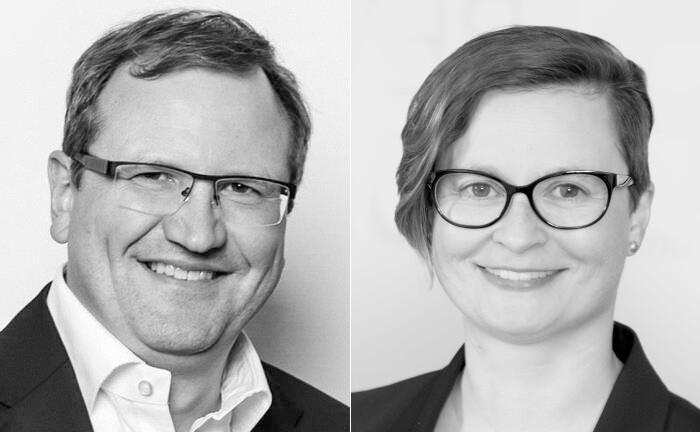 Ralph Erhard und Stefanie Förster von der Strategieberatung DCP