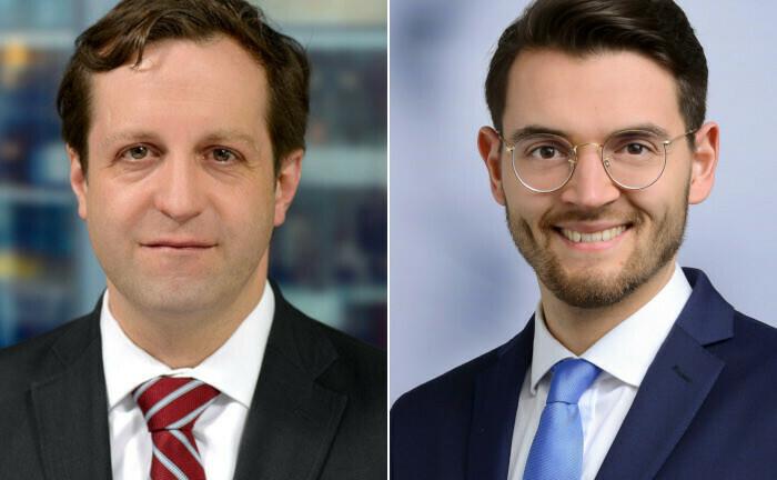 Sven Buschke (l.) und Amadeus Gryger (beide Deloitte): In ihrem Beitrag erläutern die Autoren, wie sich kleine und mittlere Unternehmen über digitale Wertpapiere refinanzieren können.