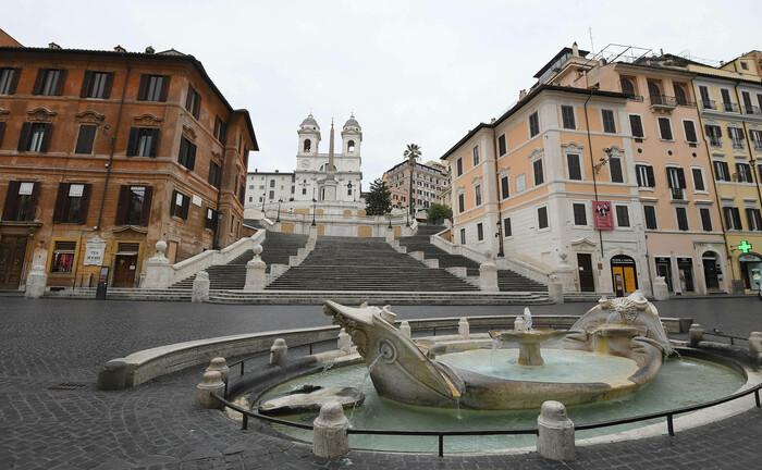 Spanische Treppe in Rom: Länder wie Italien leiden massiv unter dem Einbruch des Tourismus.