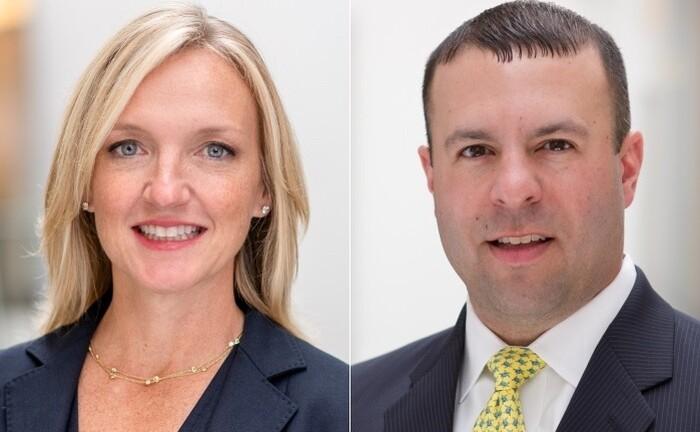 Sara Devereux und Paul Jakubowski von der Fondsgesellschaft Vanguard.