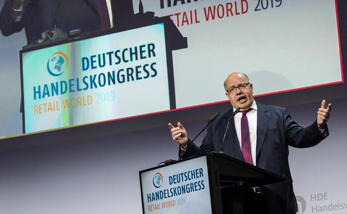 Wirtschaftsminister Peter Altmaier auf dem Deutschen Handelskongress: Gerade im wirtschaftlich so wichtigen Mittelstand kann Private Debt eine Finanzierungslücke schließen.|© imago images / Mike Schmidt