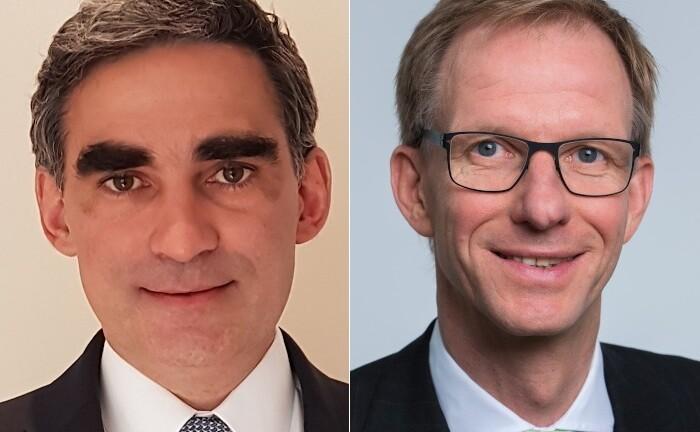 Andreas Przewloka (r.) rückt auf die Position des stellvertretenden Vorstandsvorsitzenden der UBS Europe. Zudem ziehen Pierre Chavenon und ein weiteres Mitglied in den Vorstand der Bank ein.