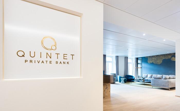 Frisch bezogene Büroräume: Von der Zürcher Bahnhofsstraße aus will Quintet Private Bank in der Schweiz neue Kunden gewinnen.