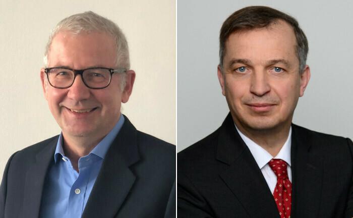 Matthias Thomas (li.) und Ulrich Nack haben sich knapp verpasst: Der eine kam Anfang Mai, der andere ging bereits im März.