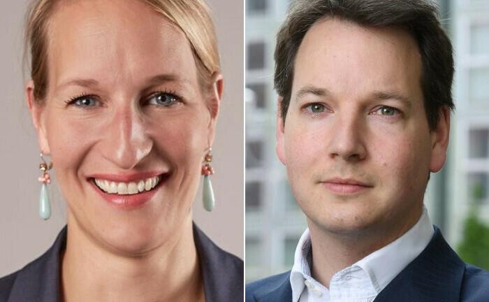 Die neue Generalsekretärin und ihr Vorgänger: Kirsten Hommelhoff und Felix Oldenburg.