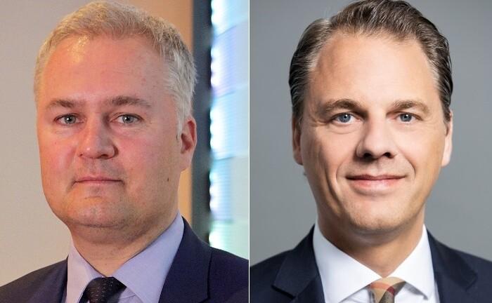Der Eine geht, der Andere steigt auf: Investmentchef Daniel Kerbach (l.) verlässt Merck Finck nach drei Jahren, Robin Beugels rückt auf die vakante Position Leiter Investmentmanagement.