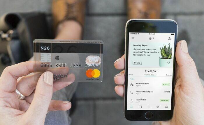 Karte und App von N26: Die Direktbank ist eines der erfolgreichesten Start-up-Unternehmen in Deutschland.