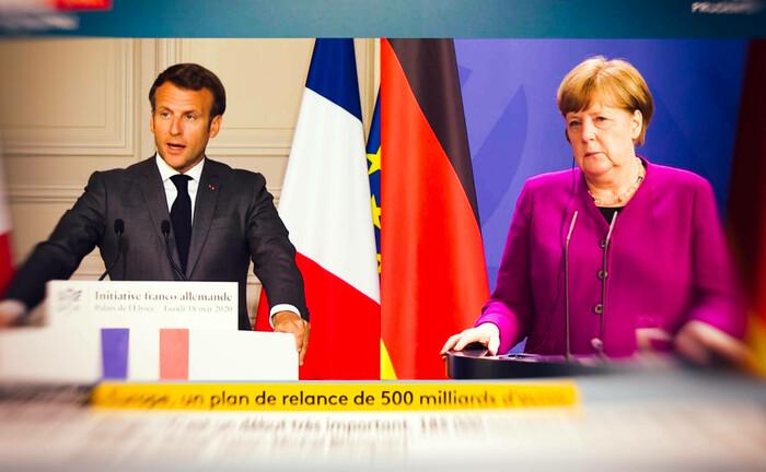 Der französische Präsident Emmanuel Macron und die deutsche Bundeskanzlerin Angela Merkel: 500 Milliarden Euro wollen beide Regierungschefs für die EU-Krisen-Staaten zur Verfügung stellen.