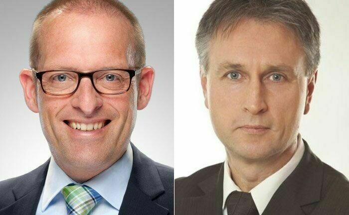 Jörg Richter (l.) von der Dr. Richter Unternehmensgruppe und Ralf Vielhaber, Geschäftsführer des Verlags Fuchsbriefe, bilden mit ihren Unternehmen die Fuchs | Richter Prüfinstanz.