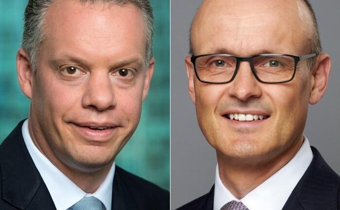 Björn Storim (l.) verlässt die Credit Suisse auf eigenen Wunsch. Frank Heitmann wird sein Nachfolger als Deutschlandchef des Schweizer Instituts.