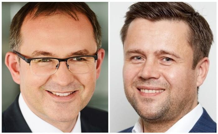 Rolf Scheidt, Mitglied des Vorstandes der Hoerner Bank, und Gordon Diehr, Chief Operating Officer (COO) der Liechtenstein Life Assurance: Die Privatbank und der Lebensversicherer haben eine Kooperationsvereinbarung geschlossen.