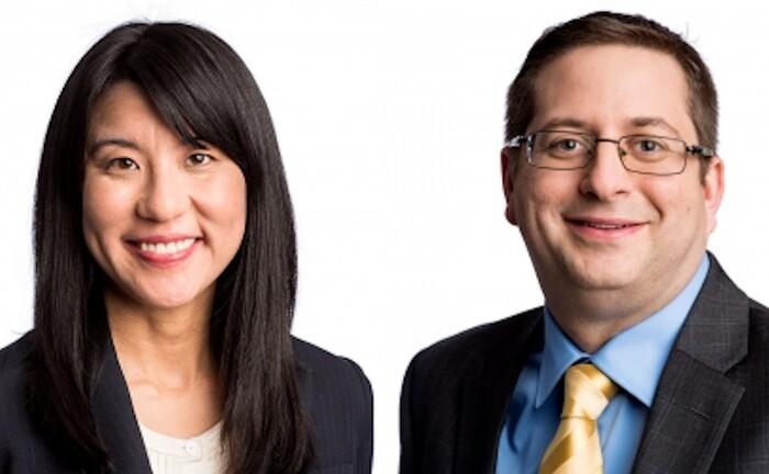 Jade Huang und Chris Madden vom Anlageberater Calvert managen die ESG-Aktienstrategien von Eaton Vance.