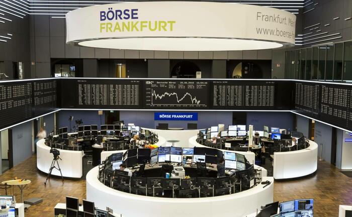 Handelssaal der Deutschen Börse: Der Börsenplatz Frankfurt spielt im Dax-Handel wieder eine größere Rolle.