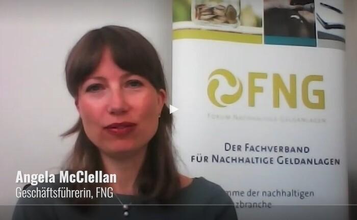 FNG-Geschäftsführerin Angela McClellan und Kollegen ordnen den jüngsten FNG-Marktbericht und das politische Umfeld für nachhaltige Investments ein.