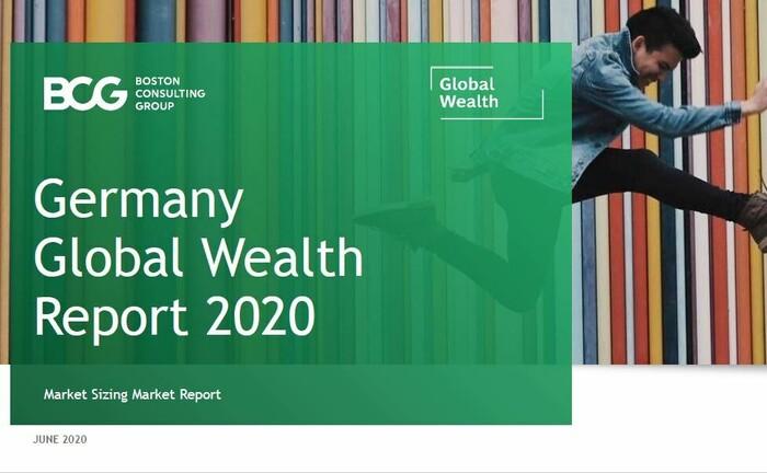 Deckblatt der Teilstudie des Global Wealth Report der BCG mit spezifischen Zahlen zum Vermögen in Deutschland