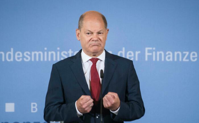 Finanzminister Olaf Scholz bei einer Pressekonferenz zur Umsetzung des Konjunkturpakets am 12. Juni 2020: Finanzprofis rechnen mit einer längerfristigen Abschwungphase.