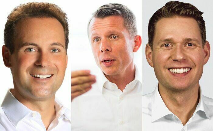 Daniel Maier, Andreas Bonschak und Phillip Mayerhofer (v.l.) vom Smart Family Office haben in Michaela Sulke-Trezek einen neue Partnerin gefunden.|© Smart Family Office