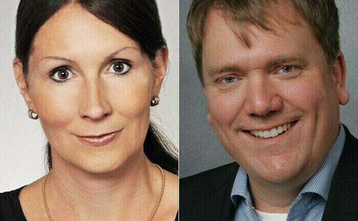Gösta Jamin (r.) und Stefanie Hehn lehren an der Hochschule für Wirtschaft und Gesellschaft Ludwigshafen am Rhein.