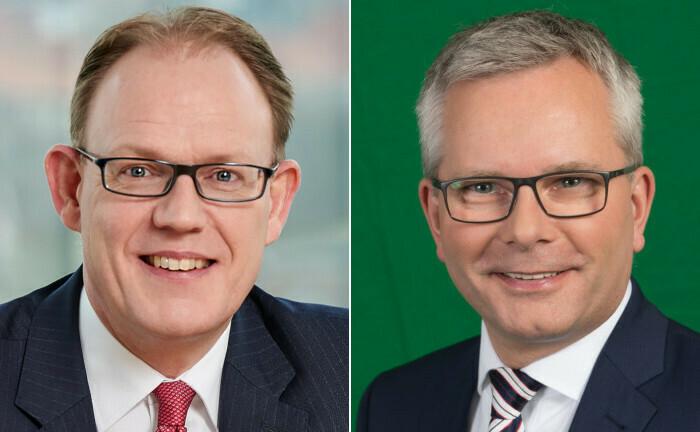 Der alte und der neue Vorstandschef: Carsten Schmeding (li.) und Dirk Rogowski.