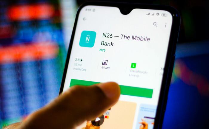Die mobile Banking-App N26 ist Teil des ersten Portfolios der Wagniskapitalgeber, auf das vermögende Liqid-Kunden via Lennertz & Co. zugreifen können.|© imago images / ZUMA Press