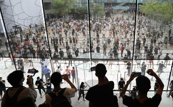 """Eröffnung des neuen Flagship-Store (Peking) eines der fünf größten Unternehmen des S&P 500: Die """"Big Five"""" haben dieses Jahr fünf Prozentpunkte zur Wertentwicklung des Index beigetragen."""