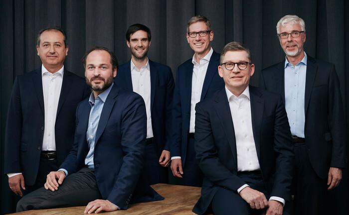 Das Gründungsteam des Finvia Family Office (v.l.n.r.): Hanna Cimen, Christian Neuhaus, Valentin Bohländer, Marc Sonnleitner, Torsten Murke und Reinhard Panse.