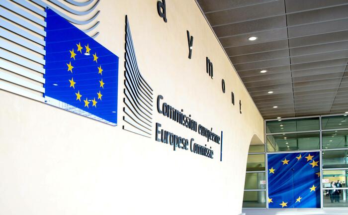 Eingangsbereich des Brüsseler Berlaymont-Gebäudes, Sitz der EU-Kommission