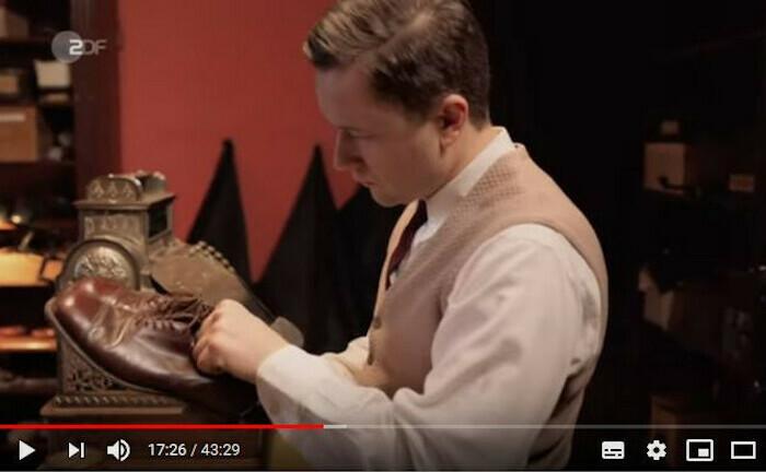 Heinz-Horst Deichmann in der Darstellung der ZDF-Doku die Deichmann-Story: Eigentlich wollte er Arzt werden, dann formte er Europas größte Schuh-Handelskette