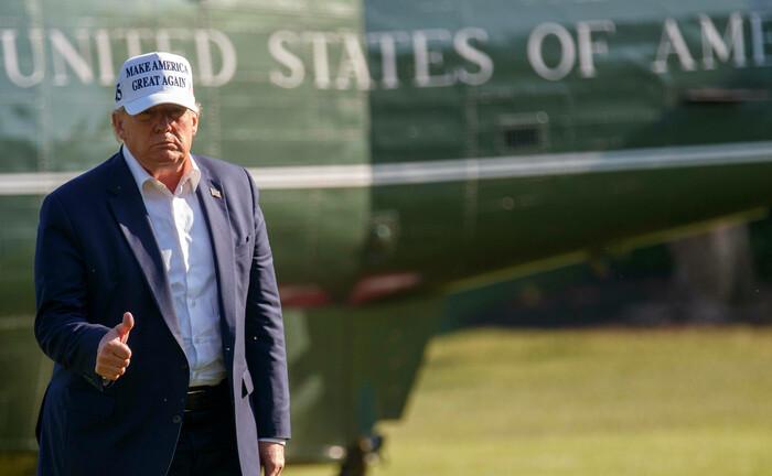Donald Trump gibt sich trotz immer neuer Rekordzahlen bei den Corona-Infektionen optimistisch