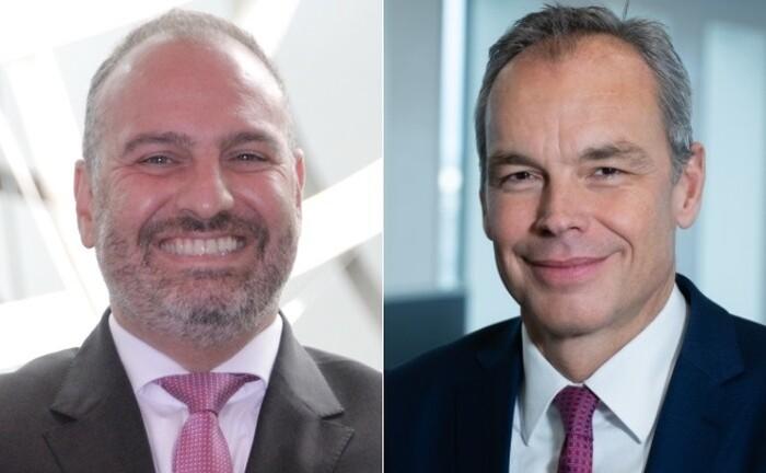 Arasch Charifi (li.) und Frank Schriever aus dem Wealth Management der Deutschen Bank: Dort hat die Großbank zuletzt drei Leitungsposten neu besetzt.|© Deutsche Bank
