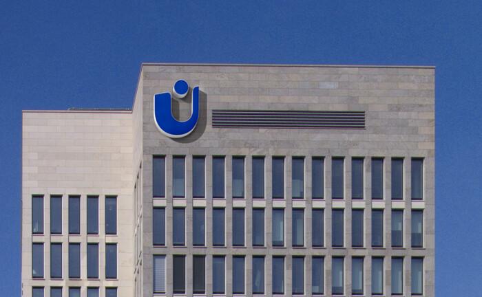 Ein Bürohaus von Union Investment in Frankfurt am Main: Das institutionelle Anlagegeschäft der Fondsgesellschaft litt im ersten Halbjahr unter den Folgen der Corona-Krise.