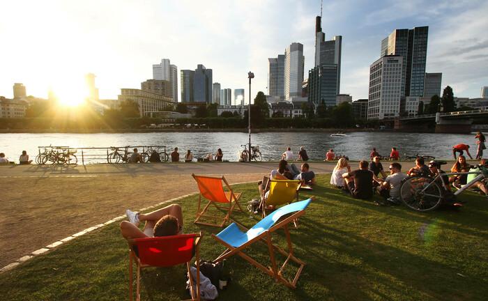 Bankenviertel in Frankfurt/Main: Die Kreditinstitute haben aus der Finanzkrise gelernt, sagen Experten von BlueBay.