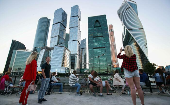 Geschäftsviertel in Moskau: Russland hat nur eine geringe Staatsverschuldung, erzielt einen Leistungsbilanzüberschuss und hält beträchtliche Devisenreserven.