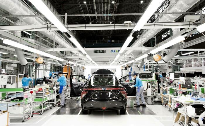 Produktion von Wasserstofffahrzeugen in Japan: Mit zwei Aktien-ETFs von Franklin Templeton können Anleger Klimarisiken verringern und Wachstumschancen wahrnehmen, die sich aus dem Übergang zu einer kohlenstoffarmen Wirtschaft ergeben.|© imago images / AFLO