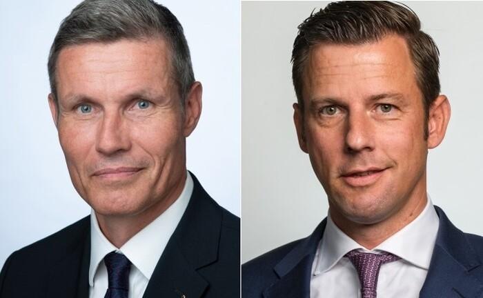 Roland Stibbe (li.) und Merten Handreck: Während ersterer die Oddo-BHF-Niederlassung in Berlin übernimmt, fokussiert sich letzterer auf strategische Kunden|© Oddo BHF