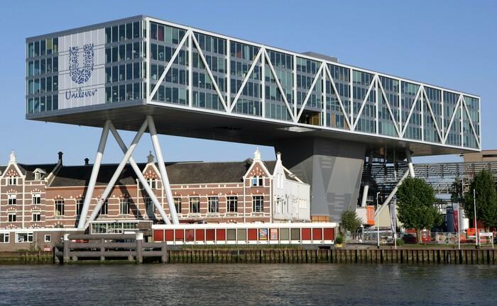 Bürogebäude von Unilever in Rotterdam: Universal-Investment betreut ab sofort Fonds der Unilever-Investmentgesellschaft Univest.