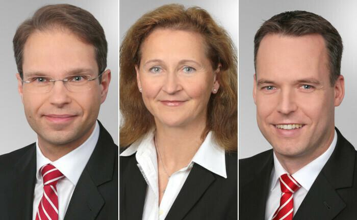 Verwaltungsrat der Kreissparkasse Köln baut Vorstand um (v.l.): Andree Henkel, Jutta Weidenfeller und Marco Steinbach.