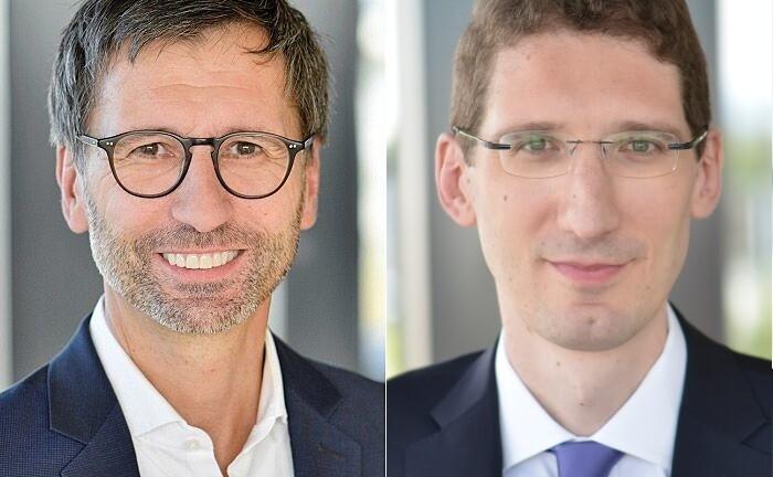 Sven Deglow (l.) und Thomas Zink, Co-Chefs der BNP Paribas Personal Investors Deutschland und Österreich: Die neue Doppelspitze verantwortet hierzulande neben den Digitalbankaktivitiäten die Wealth-Management-Einheit Private Banking.