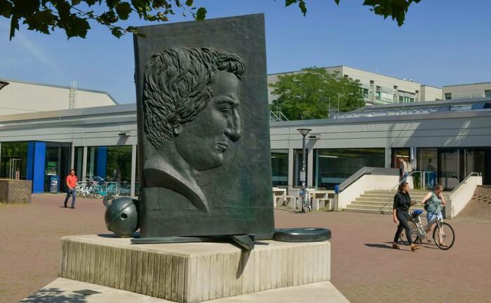 Heinrich-Heine-Denkmal auf dem Campus der Heinrich-Heine-Universität in Düsseldorf: Die Universität gehört zu den Preisträgern, die in diesem Jahr mit dem Qualitätssiegel für gute Treuhandstiftungsverwaltung des Bundesverbands Deutscher Stiftungen ausgezeichnet worden sind.
