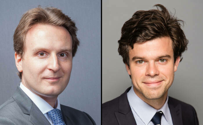 Kreditchef Pierre Verlé (links) und Anleihemanager Alexandre Deneuville: Für den neuen Laufzeitfonds verantwortlich.