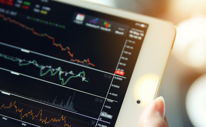 Börsenkurse auf dem Tablet