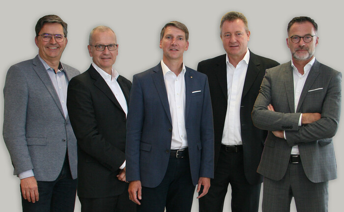 Der neue VuV-Vorstand (v.l.): Andreas Kitta, H. Christian Störkel, Andreas Grünewald, Uwe Eilers und Thomas Buckard.